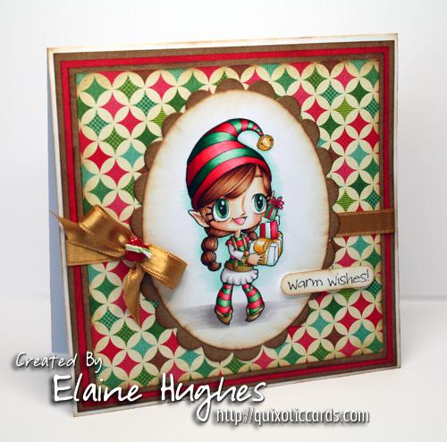 Some Odd Girl - Warm Wishes Tia - card by Elaine Hughes www.quixoticcards.com