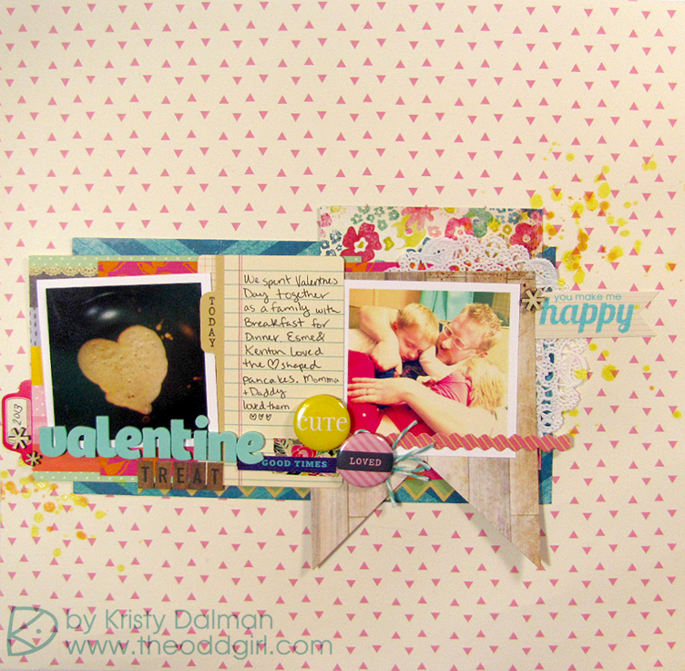 Valentine's Day Layout by Kristy Dalman