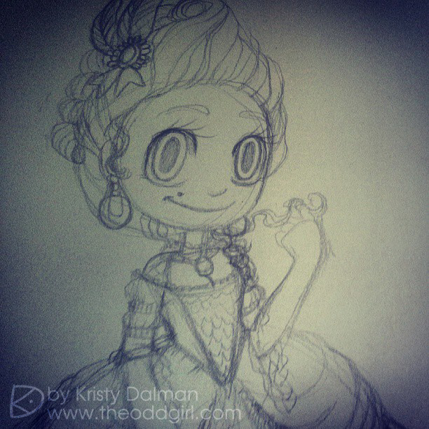 Kristy-Dalman-Sketch-Marie-Antoinette