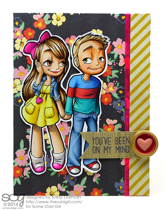 You've Been On My Mind Kristy Dalman Some Odd Girl stamps Holding Hands Mae and Kody Digital Stamp