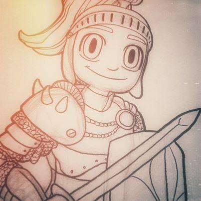 Knight Sketch by Kristy Dalman Some Odd Girl