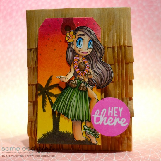 Hey There Hula Girl Mae by Kristy Dalman Hula Girl Mae Digi Stamp ARC Crafts and Some Odd Girl