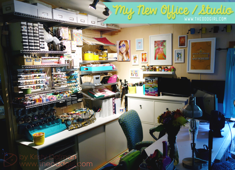 My New Office/Studio, Kristy Dalman, The Odd Girl (owner/artist of Some Odd Girl stamps & designs)