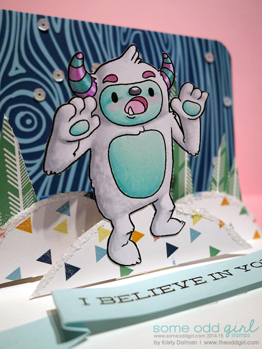 Yeti-Pop-Up-Card-Close-Up