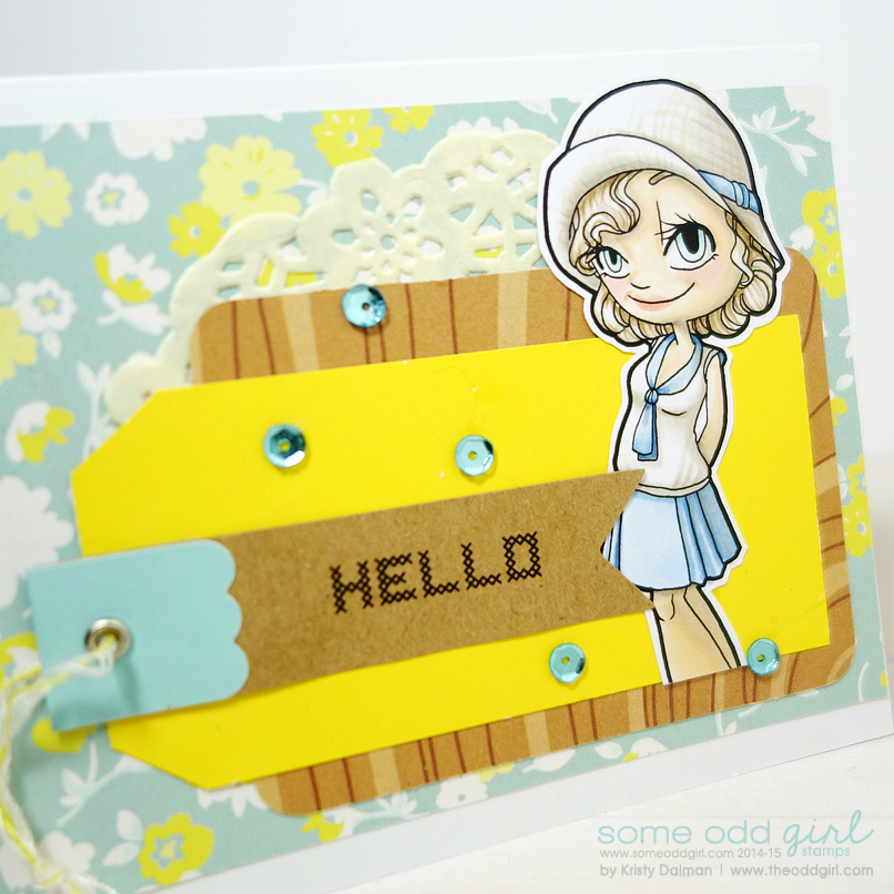 Hello-using-1920s-Gwen-Digi-Stamp-by-Kristy-Dalman-for-Some-Odd-Girl-stamps-close-up