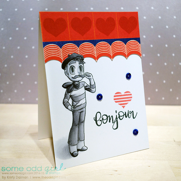 bonjour-Frenchie-Kody-card-by-Kristy-Dalman-for-Some-Odd-Girl-stamps-and-design