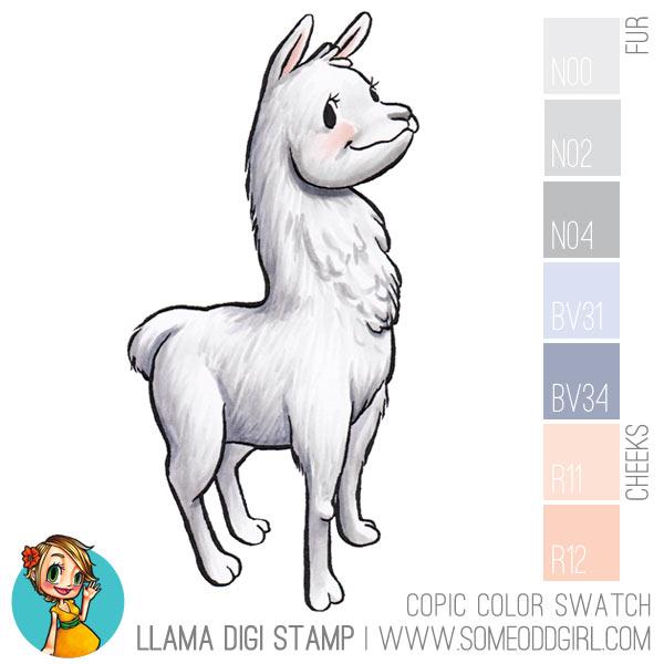 copic-color-swatches-llama-digi-stamp