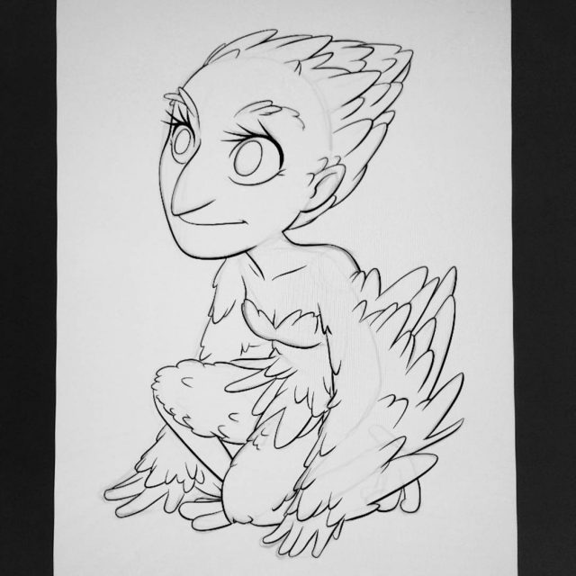 How about a harpy for inktober? inktober2017 31witches