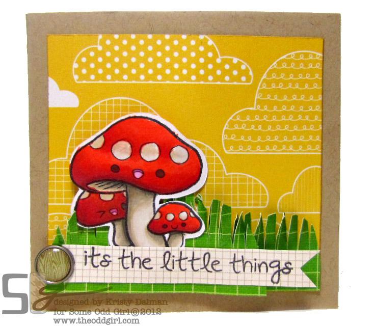 mushroom card by Kristy Dalman